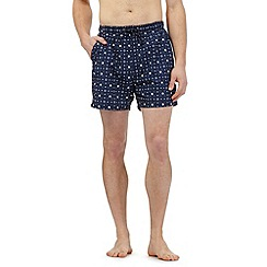 Maine New England - Big and tall navy geometric print swim shorts