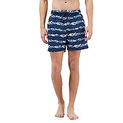 Maine New England - Big and tall navy fish print swim shorts