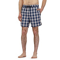 Maine New England - Big and tall blue checked print swim shorts
