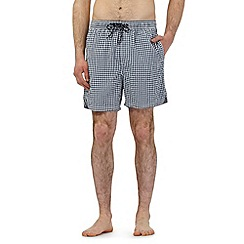 Maine New England - Big and tall navy gingham print swim shorts