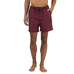 Maine New England - Big and tall dark red swim shorts