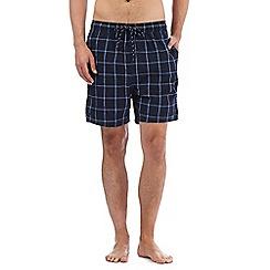 Maine New England - Big and tall navy window pane checked swim shorts
