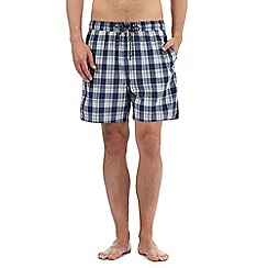 Maine New England - Blue checked print swim shorts