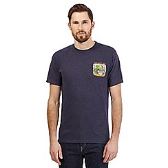 Weird Fish - Big and tall navy 'Octor who' print t-shirt