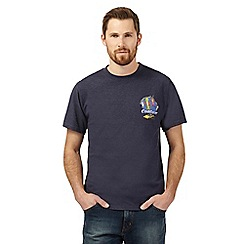 Weird Fish - Navy 'Cod-Gear' print t-shirt