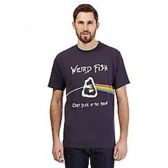 Weird Fish - Navy 'carp side of the moon' t-shirt