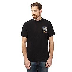 Weird Fish - Black 'The Empire Striped Bass' print t-shirt