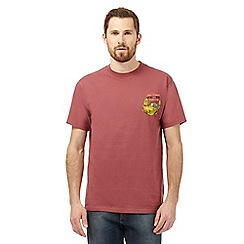 Weird Fish - Big and tall red 'Only Moules and Seahorses' print t-shirt