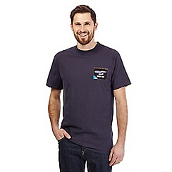 Weird Fish - Big and tall navy 'shark trek' t-shirt