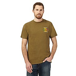 Weird Fish - Khaki 'A-Bream' print t-shirt