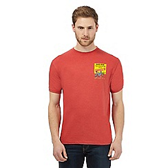 Weird Fish - Big and tall red 'never mind the pollocks' print t-shirt