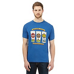 Weird Fish - Big and tall blue 'cider' print t-shirt