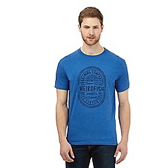 Weird Fish - Blue logo print t-shirt
