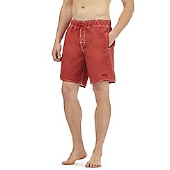 Weird Fish - Red logo embroidered swim shorts
