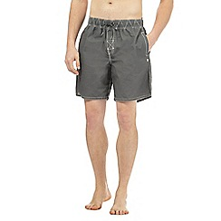 Weird Fish - Grey logo embroidered swim shorts