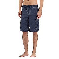 Weird Fish - Navy cargo swim shorts