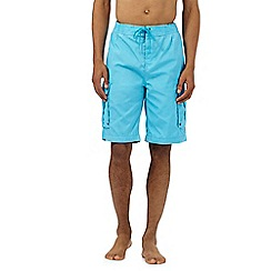 Weird Fish - Blue cargo swim shorts