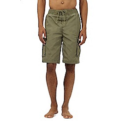 Weird Fish - Khaki cargo swim shorts
