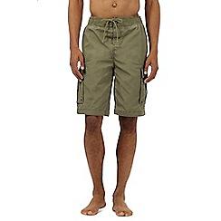 Weird Fish - Khaki cargo swim shorts