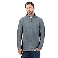 Weird Fish - Blue macaroni zip neck jumper