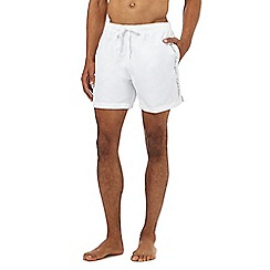 Calvin Klein - White logo tape swim shorts