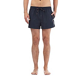 Calvin Klein - Navy short logo tape swim shorts