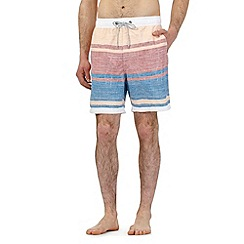 Mantaray - Multi-coloured striped print swim shorts