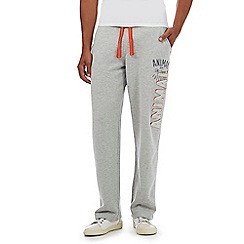 Animal - Big and tall grey raglan print jogging bottoms