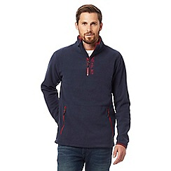 Animal - Navy half zip fleece jumper