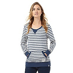 Animal - Blue striped scoop neck sweatshirt