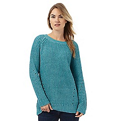 Animal - Green chunky twist knit jumper