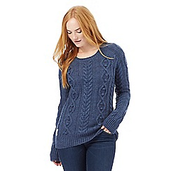 Animal - Mid blue cable knit jumper