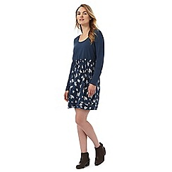 Animal - Navy long sleeve tiered hem tunic dress