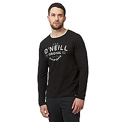 O'Neill - Black logo print top