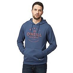 O'Neill - Navy logo print hoodie