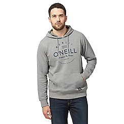 O'Neill - Grey logo print hoodie
