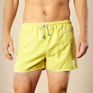 Yellow zip pocket swim shorts