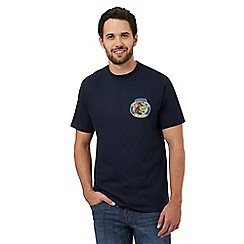 Weird Fish - Big and tall navy 'codgoblin' print t-shirt