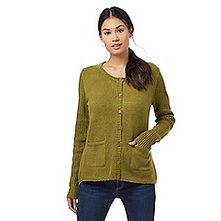 Weird Fish - Green pointelle cardigan