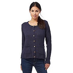 Weird Fish - Navy pointelle cardigan