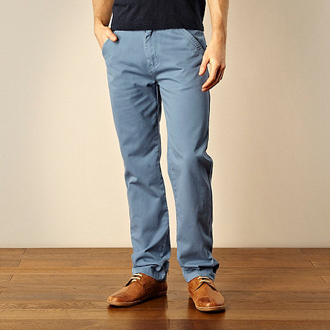 Weird Fish - Blue straight leg chinos