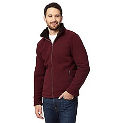 Regatta - Big and tall dark red sherpa lined zip-through fleece