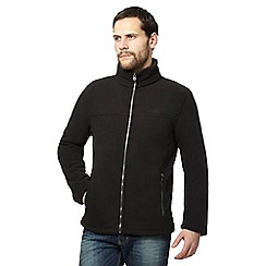 Regatta - Black sherpa lined fleece jacket