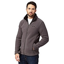 Regatta - Big and tall dark grey sherpa lined zip-through fleece