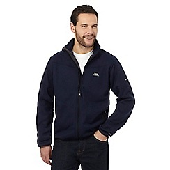 Trespass - Navy logo embroidered fleece jumper