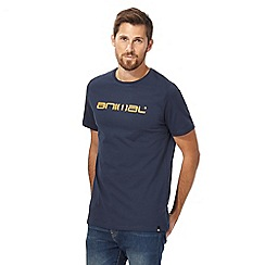 Animal - Navy logo print t-shirt