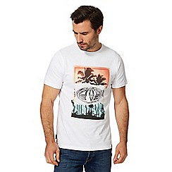 Animal - White palm tree logo print t-shirt