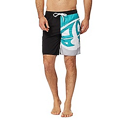 Animal - Black logo print swim shorts