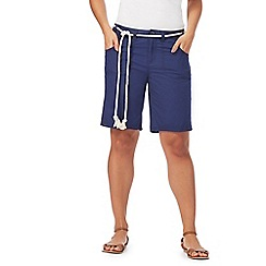 Animal - Navy rope belt shorts