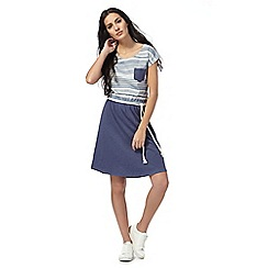 Animal - Blue stripe top dress